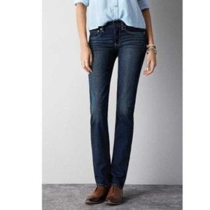 American Eagle Dark Wash Straight Cut Jeans